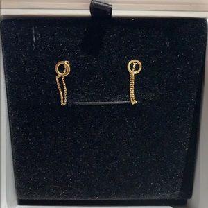 Mejuri 14k Gold Drop-Chain Stud Earrings *NWT*